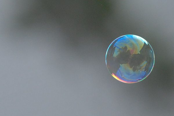 digital marketing image of a bubble floating in the air