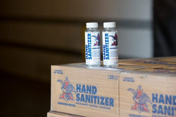 anheuser busch hand sanitizer 2 bottles