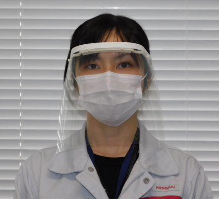 Japanese brands coronavirus contribution - nissan face shield